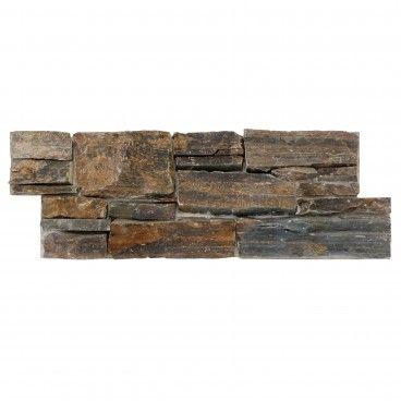 Pedra Natural Rustico Multicolor  20x55