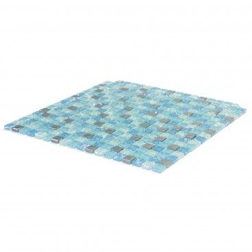Pastilha Vidro/Aluminio Azul 30x30