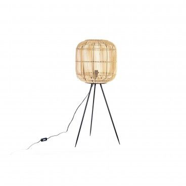 Candeeiro de Pé Bambu/Metal