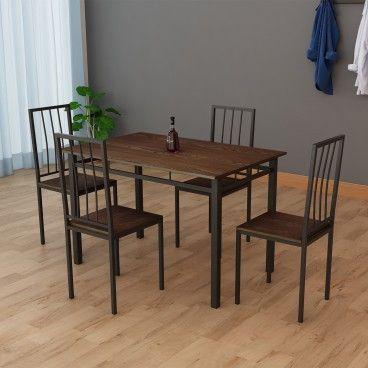 Mesa Bilbao com 4 Cadeiras