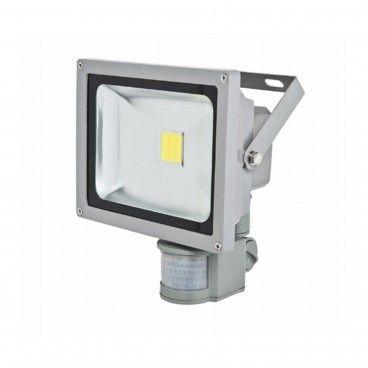 Projetor Exterior LED com Sensor 20W 1300Lm 6000K