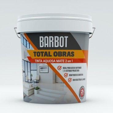 Tinta Aquosa Mate Interior Barbot Total Obras 2em1