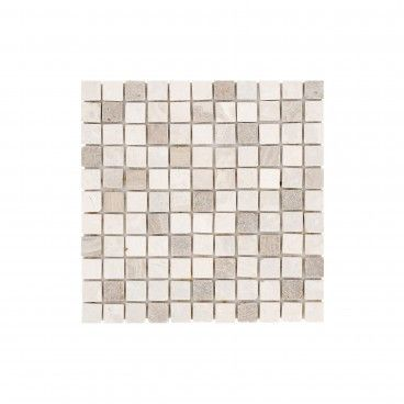 Pastilha Mármore Branco/Rosa 30x30