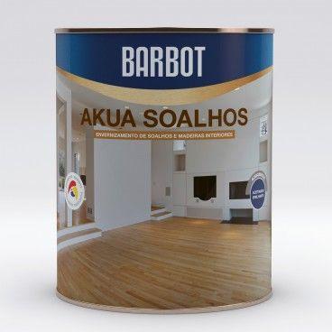 Verniz Aquoso Barbot Akua Soalhos Brilhante 0.75L