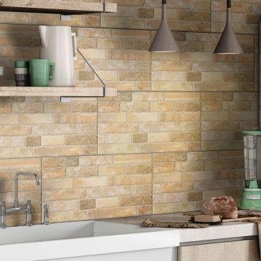 Revestimento Halcon Brickwork Beige 33x55