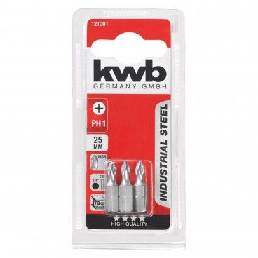 Kwb Conjunto 3 Bits PH Industrial 25mm