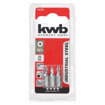 Kwb Conjunto 3 Bits PZ Industrial 25mm