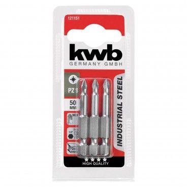 Kwb Conjunto 3 Bits PZ Industrial 50mm