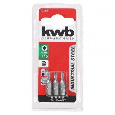 Kwb Conjunto 3 Bits TORX Industrial 25mm
