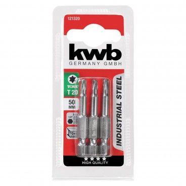Kwb Conjunto 3 Bits TORX Industrial 50mm