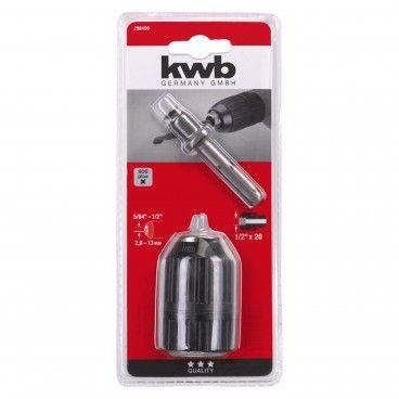"""Kwb Portabrocas Automático 1.5-13mm 1/2"""" + Adaptador SDS-Plus"""