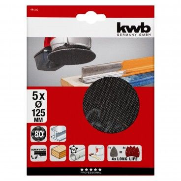 Kwb Kit 5 Lixas com Velcro Ø125mm