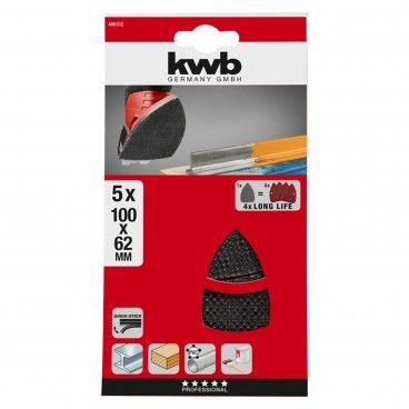 Kwb Kit 5 Lixas Delta 100x62x93mm
