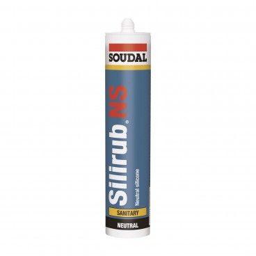 Silicone Neutro Sanitário Soudal Silirub NS 300ml