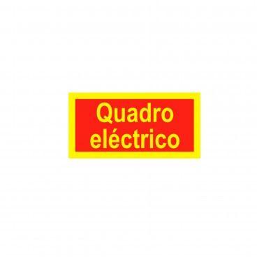 Sinal de Indicação Quadro Elétrico em PVC Fotoluminescente