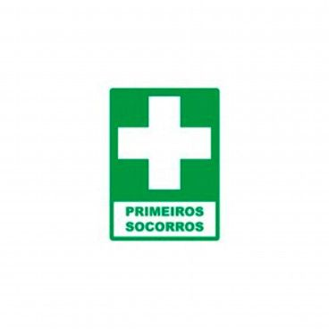 Sinal de Indicação Primeiros Socorros em PVC Fotoluminescente