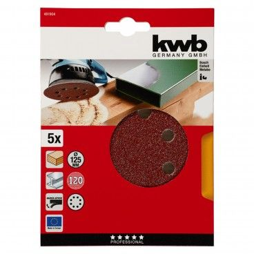 Kwb Kit 5 Lixas Ø125mm