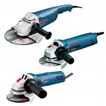 Pack 3 Rebarbadoras Bosch GWS 22-230 + GWS 1000 + GWS 750