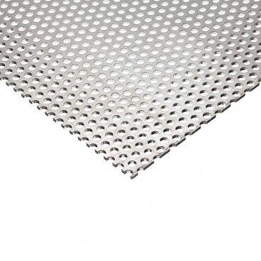 Chapa de Alumínio Bruto Perfurado Ø5mm