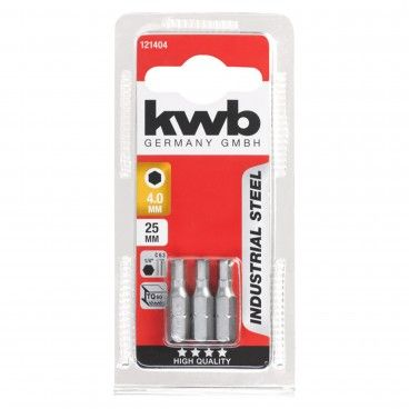 Kwb Conjunto 3 Bits HEX Industrial 25mm