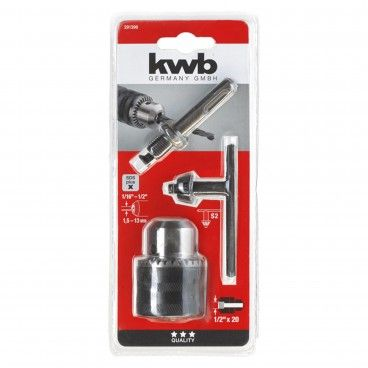 "Kwb Portabrocas com Chave 1,5-13mm 1/2""+ Adaptador SDS-Plus"