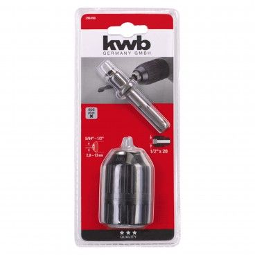 "Kwb Portabrocas Automático 1.5-13mm 1/2"" + Adaptador SDS-Plus"