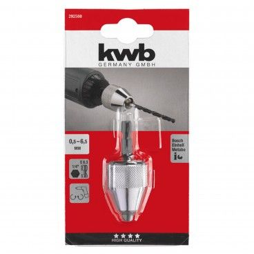 """Kwb Portabrocas 0.5-6.5mm HEX 1/4"""""""