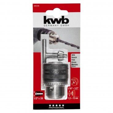 "Kwb Portabrocas com Chave 1,5-13mm 1/2"""