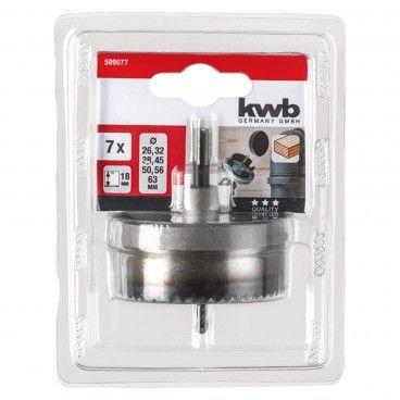 Kwb Conjunto Serras Craneanas 7 Peças Ø25-63x18mm