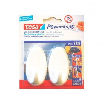 Gancho Adesivo Oval Tesa Powerstrips 2un