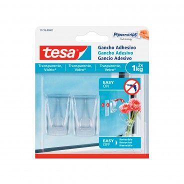 Gancho Adesivo Transparente Tesa Powerstrips 2un