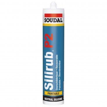 Silicone Pintável Soudal Silirub P 310ml