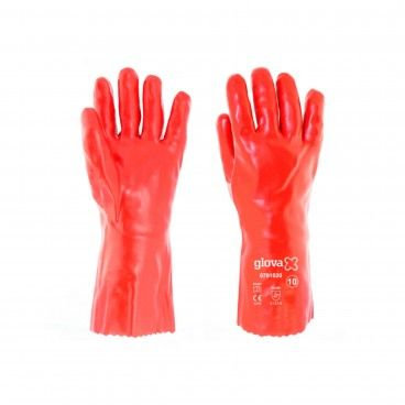 Luva PVC Vermelho 35cm