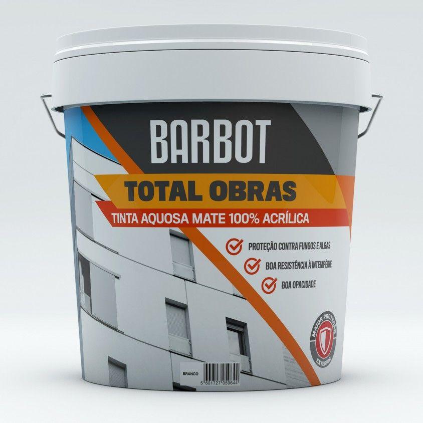 Tinta Aquosa Mate Exterior Barbot Total Obras 15L