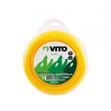 Fio Nylon Quadrado para Roçadora Vito Ø3mm x 15m