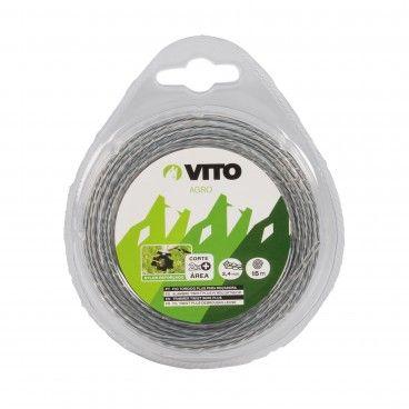 Fio Nylon Torcido Plus para Roçadora Vito Ø3mm x 15m