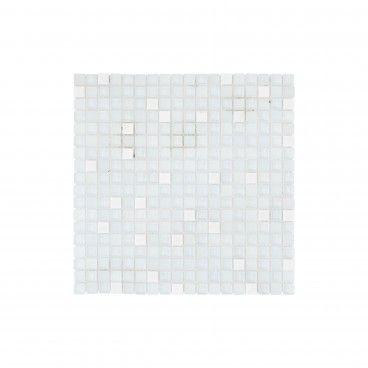 Pastilha Pedra Natural/Vidro Super Branco 30x30