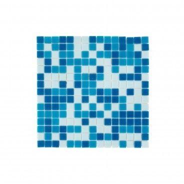 Pastilha Vidro Azul Escuro/Claro 32.7x32.7
