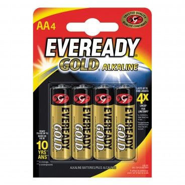 Pilha Alcalina Energizer Eveready Gold LR6 AA 4un