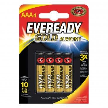 Pilha Alcalina Energizer Eveready Gold LR03 AAA 4un
