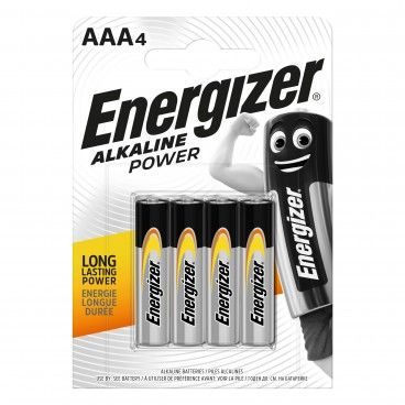 Pilha Alcalina Energizer Power LR03 AAA 4un