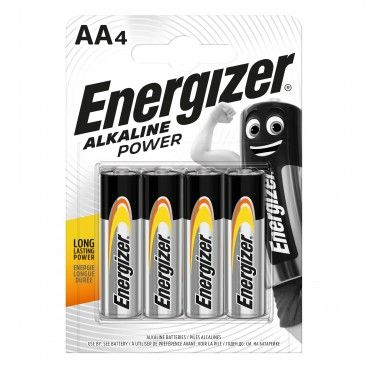 Pilha Alcalina Energizer Power LR6 AA 4un