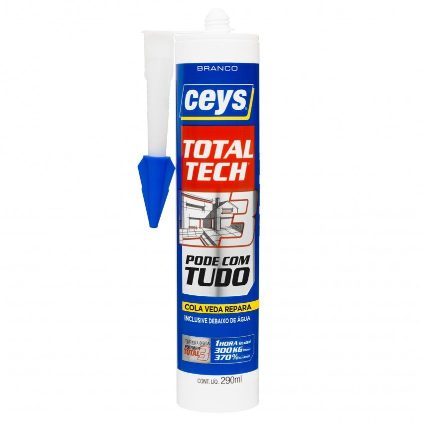 Cola e Veda Ceys Ms Total Tech Branco 290ml