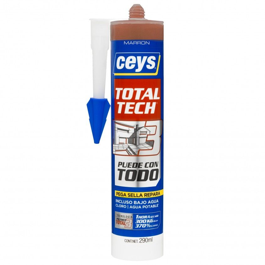 Cola e Veda Ceys Ms Total Tech Castanho 290ml