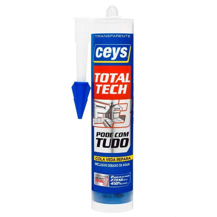 Cola e Veda Ceys Ms Total Tech Transparente 290ml