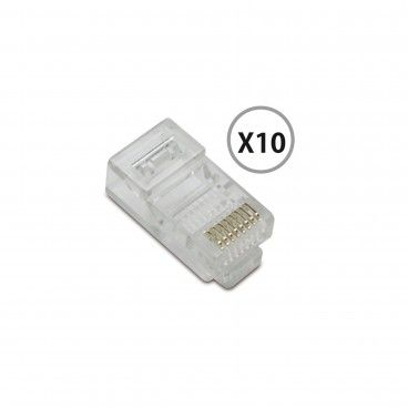 Conector RJ45 10un