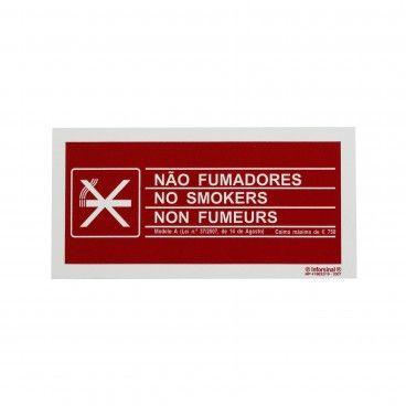 Sinal de Proibido Fumar em PVC Opaco
