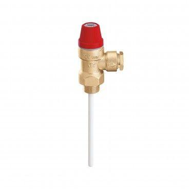 Válvula de Segurança Caleffi para Temperatura-Pressao 1/2M 3bar