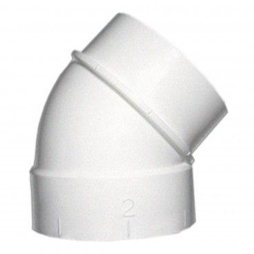 Curva 45º MF Ø51mm para Aspiração Central