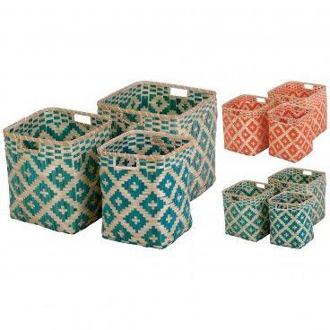 Conjunto 3 Cestos de Bambu